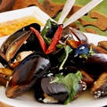 アジアの食堂クラス ムール貝のバジル蒸し