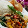 アジアの食堂クラス 鶏肉とバジルの炒め物