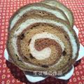 チップデール色のぐるぐる食パン素晴らしい巻き巻き