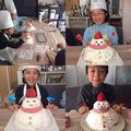 2018 kids 雪だるまのクリスマスケーキ