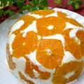 見た目もキュートなオレンジチーズケーキ