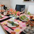 自宅料理教室の様子。テーマは「女子会」でした