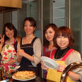 パーティルームでの料理教室です。