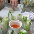5月の教室「アジアンカフェ」では、生春巻きを作りました。