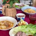 ポッサム/手作りトッポギ/豆乳のピリ辛スープ