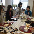 マクロビオテイック料理と中国茶とのコラボ風景
