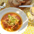 南仏をイメージした、白インゲン豆と野菜たっぷりのスープです。