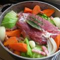 固まり肉と野菜で作る、「豚肉とキャベツのブレゼ」。