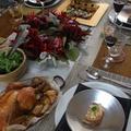 クリスマスレッスンの食卓は、華やかに演出します。
