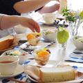 バタートップ・ジョリマダムプリン 試食テーブル。