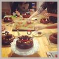 クリスマスケーキも作ります