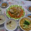 蒜泥白肉、乾麺、銀耳紅棗湯