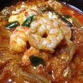 韓国人もびっくりの辛めのえび入りキムチチゲ