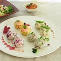野菜ソムリエ厳選季節の野菜の手鞠のお寿司