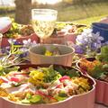 桜の季節にお花見レッスン。お外で食べるお料理は格別です♪