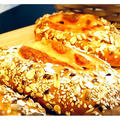新作『スモークチーズとベーコン、ミックスシードのパン』