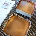 お子様レッスン。 ベイクドチーズケーキ!上手にできました。