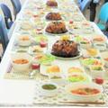 テーブルいっぱいにお料理が並びました!トマトのジュレ等