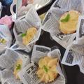 大勢の子供達と農園で採れた桃をたっぷり使ったタルト