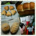 お子様も踏み台に乗って、パン作り♪