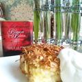 林檎とナッツの温かいケーキ