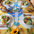 7月の限定レッスン、枝豆パンとシマシマ枝豆チーズ