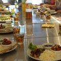 ランチがてらの試食には毎回野菜料理が4〜5品並びます。