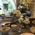 2019年6月和食器コーデ。庭で育てた有機ハーブをお茶に⭐︎