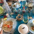 洋皿のテーブルコーディネートですが食べやすい和食です。
