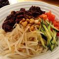 甜麺醤のきいたジャージャー麺❤️もちろん手打ち麺‼️旨し😃