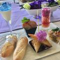 紫陽花の季節のフィンガーフードのメニュー
