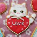 アイシングクッキー。ハートに好きなメッセージを♪
