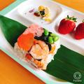 ひなまつりのちらし寿司 個性があふれる仕上がりです♬
