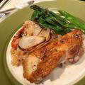 4月の料理教室は鶏もも肉のローストとピラフ