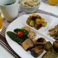 秋刀魚の2種揚げと松茸ごはんもどきで秋をいただき!