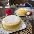 2019.8 親子で参加。2種類のスフレチーズケーキ。