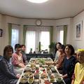 豆腐とお豆と野菜の料理教室雨の中、定員7名笑顔で大満足!