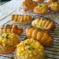 5月のパン こどもが大好きソーセージロールとコーンマヨパン