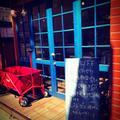 レッスンは、この青い入口が目印です。