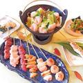 居酒屋料理レッスン【焼き鳥7種、もつ鍋、ナムル、刺身蒟蒻】