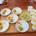 離乳食教室の試食♪お子様の進み具合に合わせて、調理します。