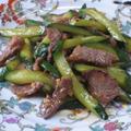 牛肉ときゅうりのかおり炒め