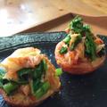 チョンカキムチとちぢみ雪菜の春野菜ソテー