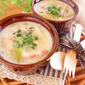 お肌に嬉しい♪キャベツとセロリの中華風豆乳スープ