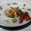 魚介と彩り野菜のサラダ☆キャンディベーコン添え