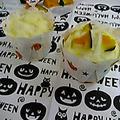 *簡単!ハロウィンかぼちゃ&チーズの蒸しパン*