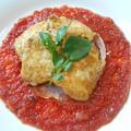 トマトソースのマスタードピカタ