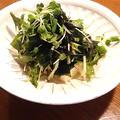豆腐とわかめの海苔ドレッシングサラダ