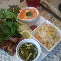 トウモロコシご飯のワンプレートランチ