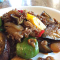 夏野菜と牛肉コチュジャン炒め
